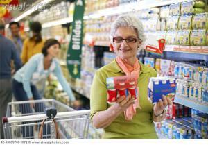 shopping for yoghurt